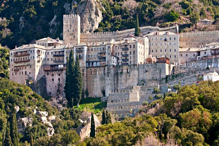 st pauls monastery mt athos greece by s end flickr